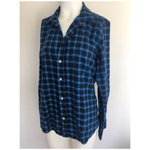 Frank & Eileen Blue Plaid Soft Flannel Barry Shirt